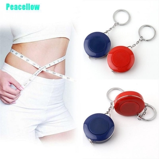 Peacellow Retractable Body Measuring Ruler Keychian Sewing Cloth Tailor Tape Measure