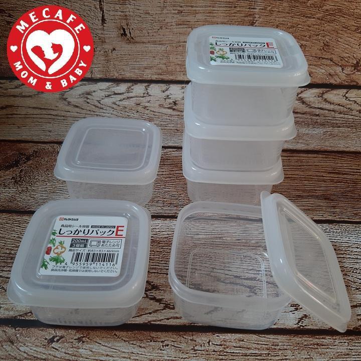 Set 3 hộp nhựa trữ đông nắp dẻo Nakaya - Nhật Bản