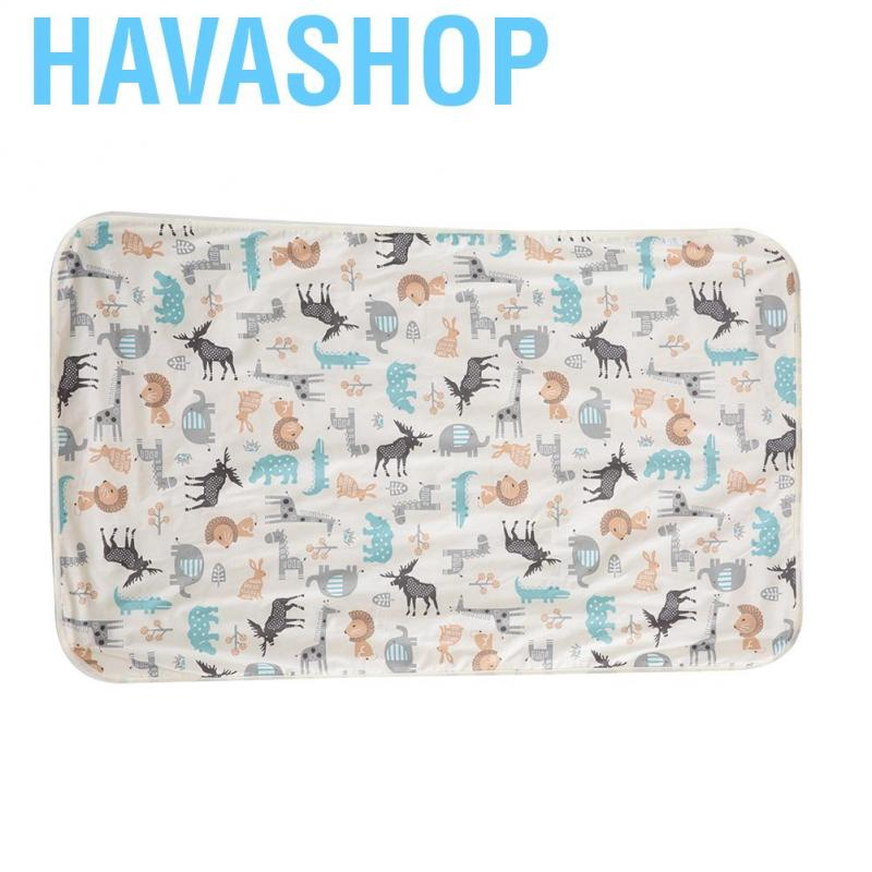 Havashop 75 * 120cm 3Layers Cotton Waterproof Baby Urine Pad Mat Bed Nappy Diaper Liner