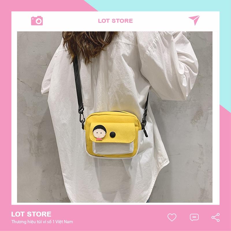 Túi vải đeo chéo canvas đựng quần áo đeo vai thời trang giá rẻ