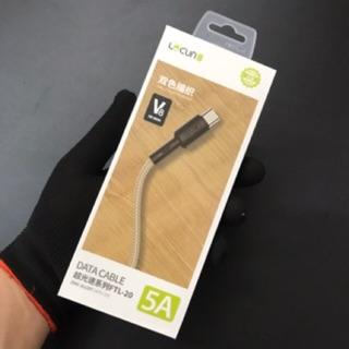 Dây Cáp Micro USB Lecun mẩu GS-10 (FTL-20) Dây Dù thumbnail