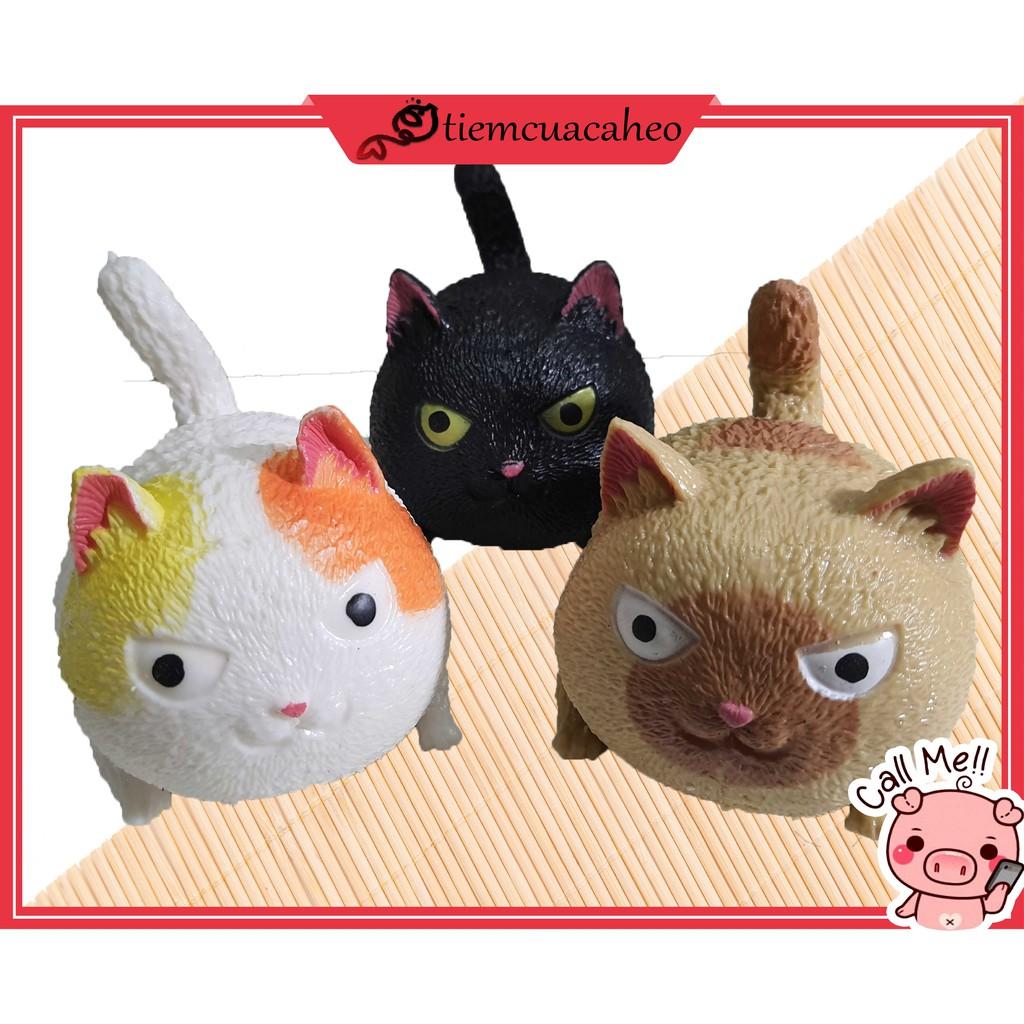 (Sẵn Hàng tại TPHCM,Ship 1-2h Nhận) Con Mèo giận dữ,Mèo cute tiktok, hot trend decor,đồ chơi xả stress silicon nắn bóp