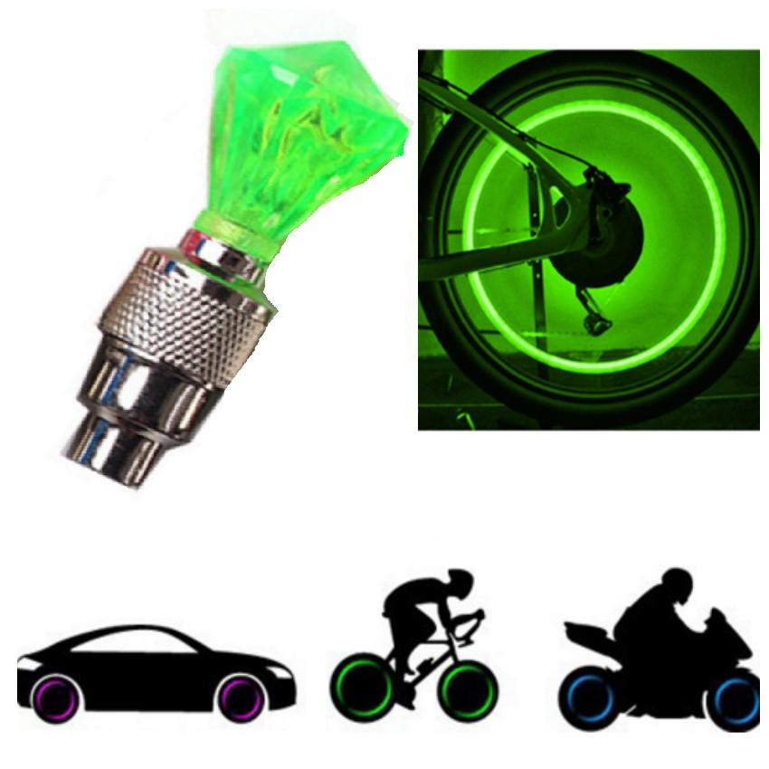 Đèn Led Gắn Van Xe Kim Cương Trang Trí Và An Toàn Xe TL 309-41(xanh lá)