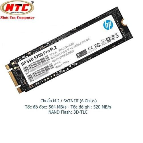 Ổ Cứng SSD M2 HP S700 Pro 256GB chuẩn giao tiếp SATA III - Box Anh (đen)