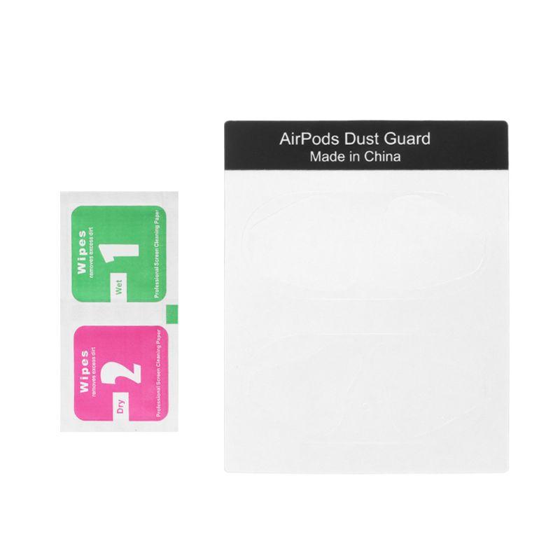 Cặp nhãn dán màu sắc đa dạng bảo vệ mặt trong hộp sạc tai nghe AirPods