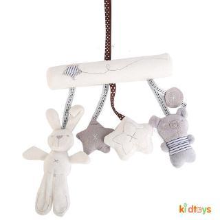 【kidtoys】Car Pendant for Infant Baby Hanging Activity Plush Toy Sweet Rabbit