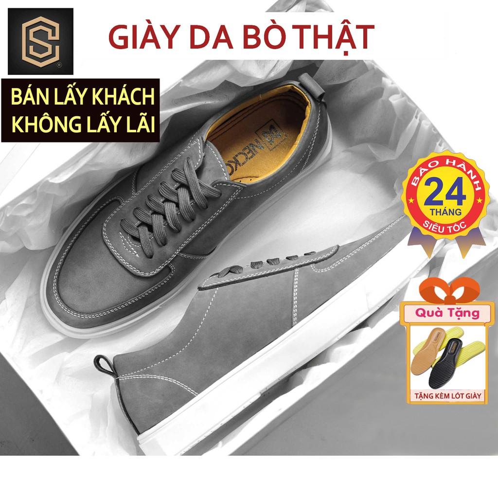 Giày Thể Thao Nam Da Bò Thật Nguyên Tấm - Giầy Sneaker Nam Cao Cấp CHEAPSTOREVN CS419 (bảo hành 24 tháng)