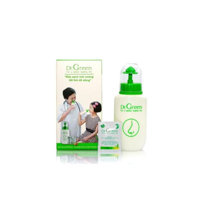 Bình Rửa Mũi Cho Bé Dr.Green + 10 Gói Muối