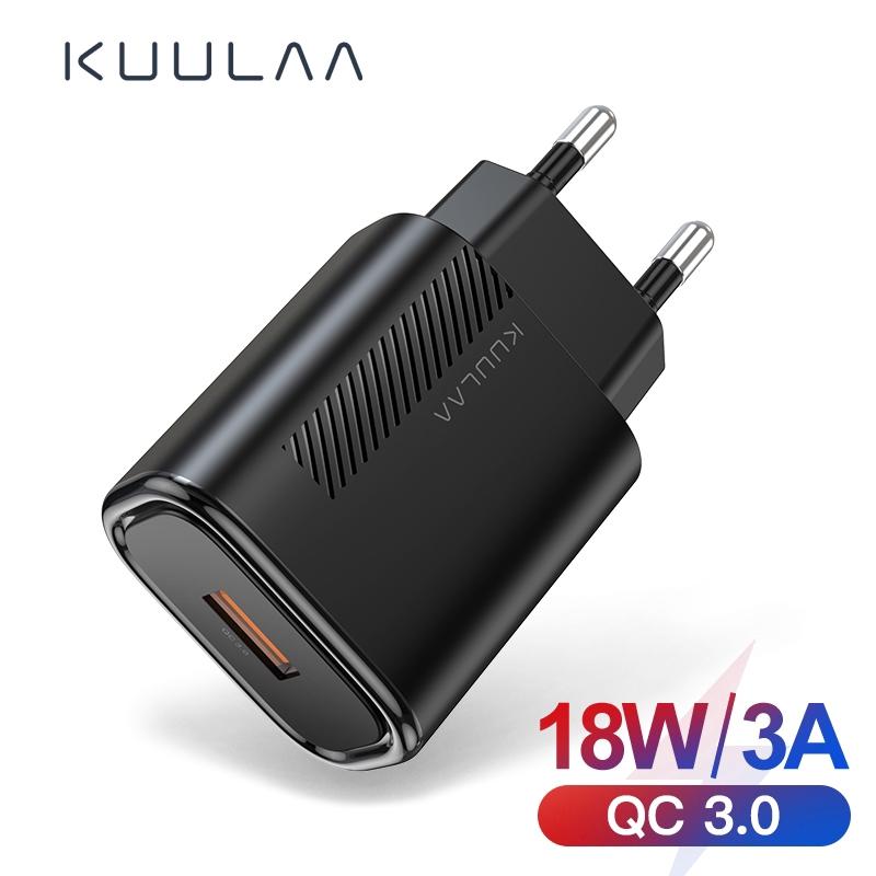 Củ sạc KUULAA tốc độ nhanh cổng USB 3.0 18W cho Xiaomi