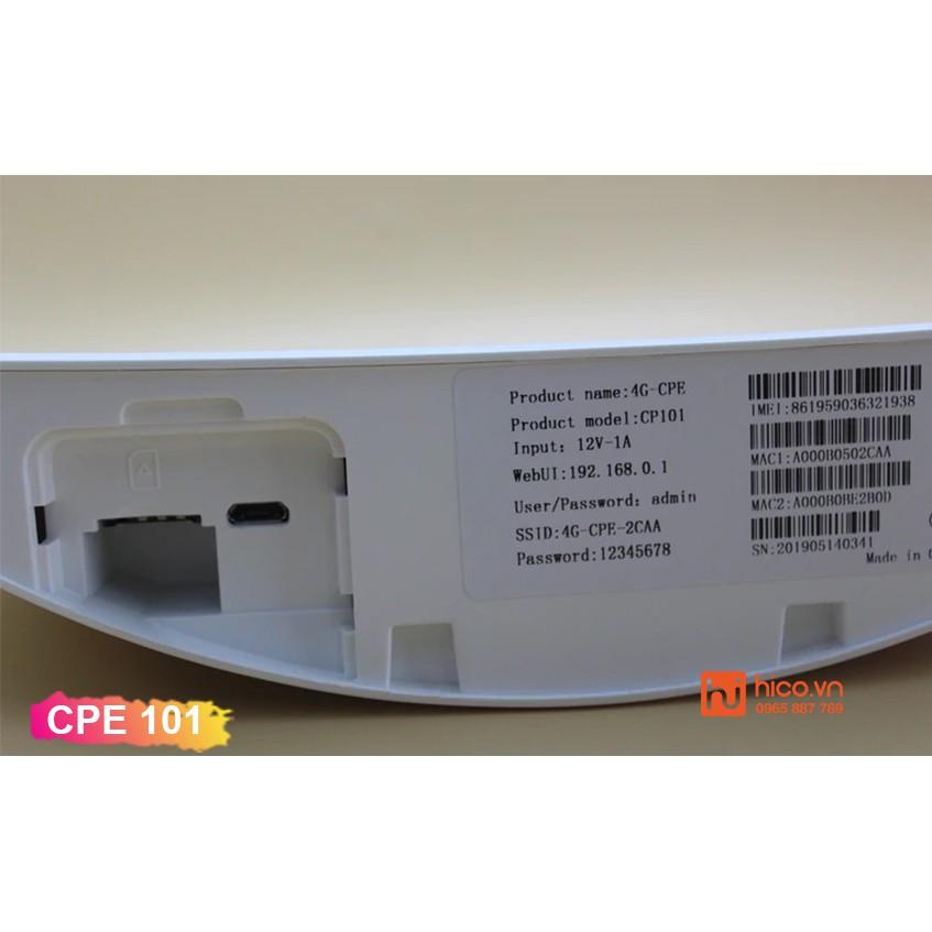 Bộ Phát Wifi Từ Sim 3G 4G LTE CPE 101 - 3 Cổng Lan , Truy Cập Tối Đa 32 Thiết Bị , Lắp Cho Oto Khách , Camera , TV Smart