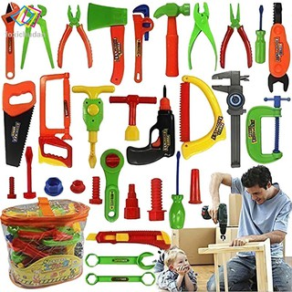 FCD 34pcs Repair Tools Set Boy Kid Toys Craftsman Pretend Play Fixing Skill for Baby Children Gifts
