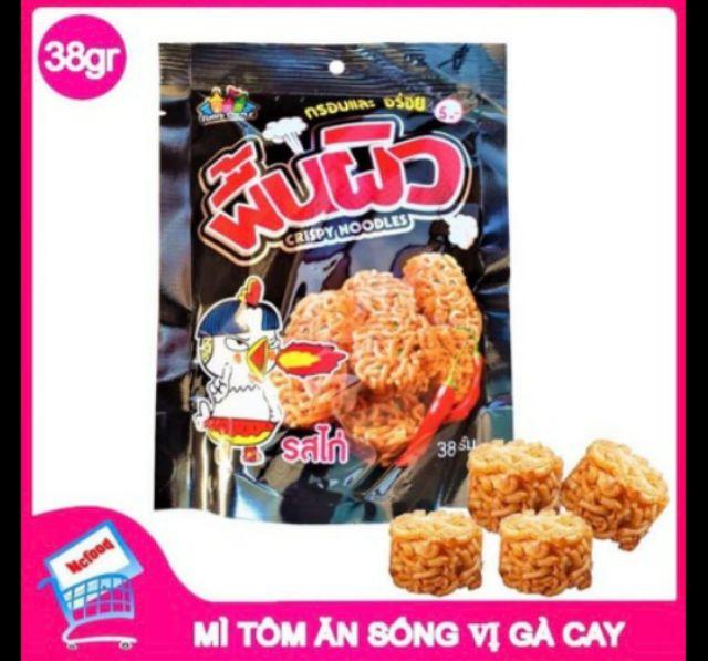 Mì Tôm Ăn Sống Vị Gà Cay Thái Lan 38gr (dạng viên)