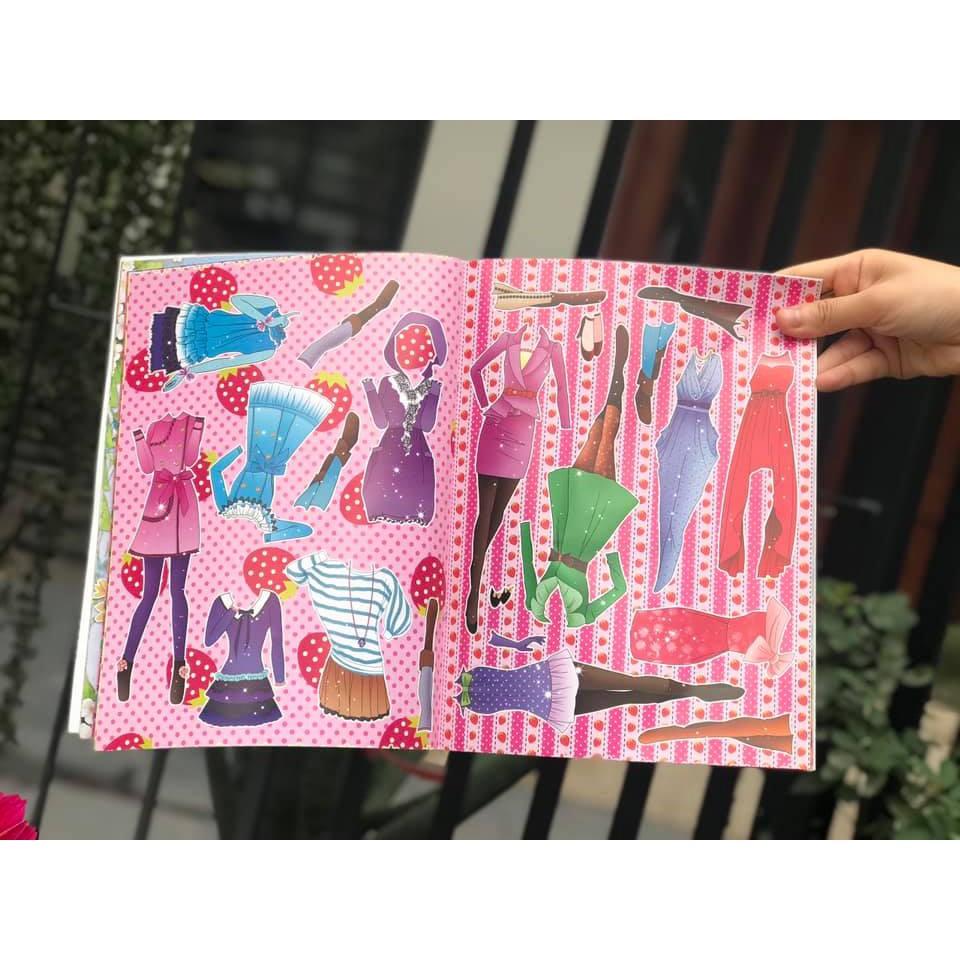 Sticker dán hình váy công chúa cho bé gái