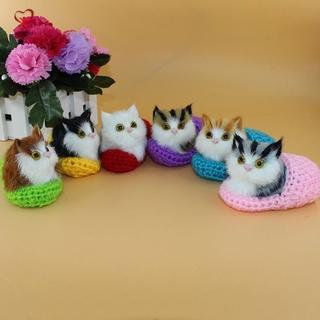 Mèo Nhồi Bông Đồ Chơi Có Âm Thanh Vui Nhộn Cho Bé