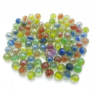 Compo khoảng 2000 viên bi ve NHÍ đủ màu size 1 cm bằng thủy tinh (4kg)