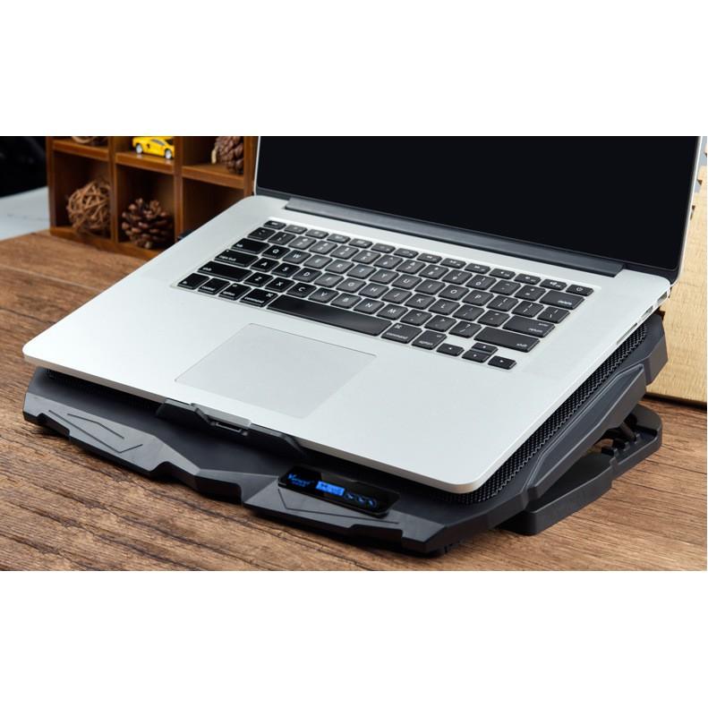 Đế Tản Nhiệt Laptop 4 Fan Có Màn Hình Điều Khiển 6 Cấp Độ Gió Chuẩn Gaming