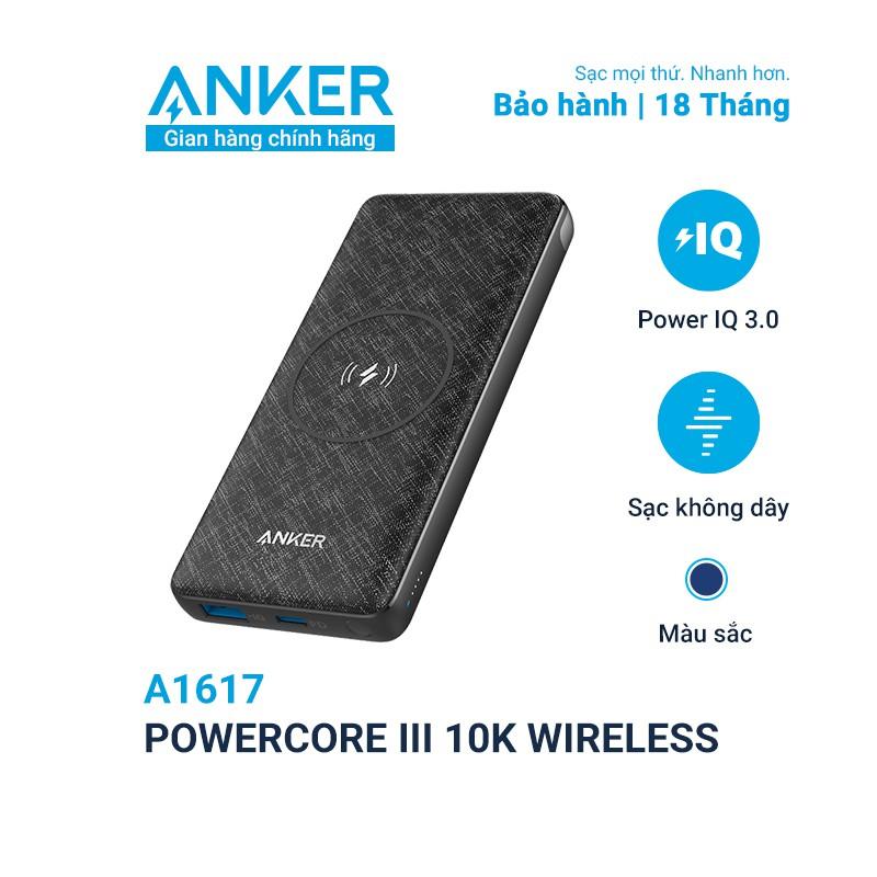 Sạc dự phòng không dây ANKER PowerCore III 10000mAh - A1617