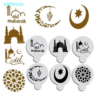 Bộ 6 Khuôn Rắc Bột Trang Trí Cà Phê Kiểu Hồi Giáo