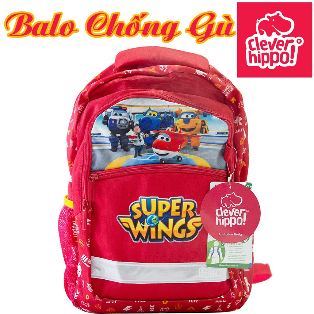 Balo Chống Gù Trẻ Em Clever Hippo Superwings