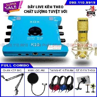 Sound card XOX K10 10th Bản 2020 - K10 Jubilee Và Micro BM900 (Chính Hãng Có Mã Vạch) thumbnail