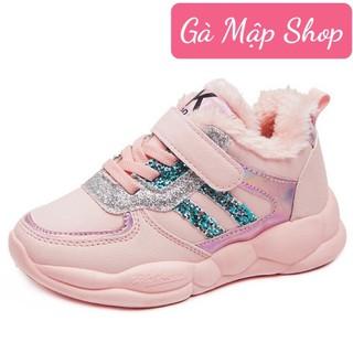 Giày thể thao bé gái phong cách Hàn quốc trần bông siêu êm chân