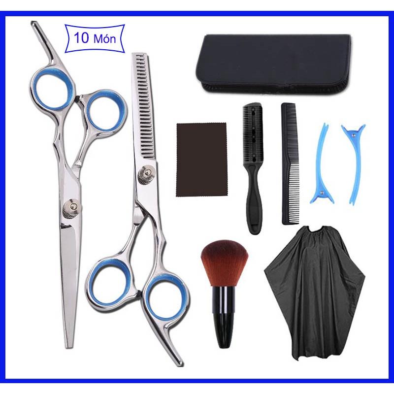 Kéo cắt tóc người lớn và trẻ em nhập khẩu chất lượng với đầy đủ bộ cho cả salon tóc chuyên nghiệp sử dụng