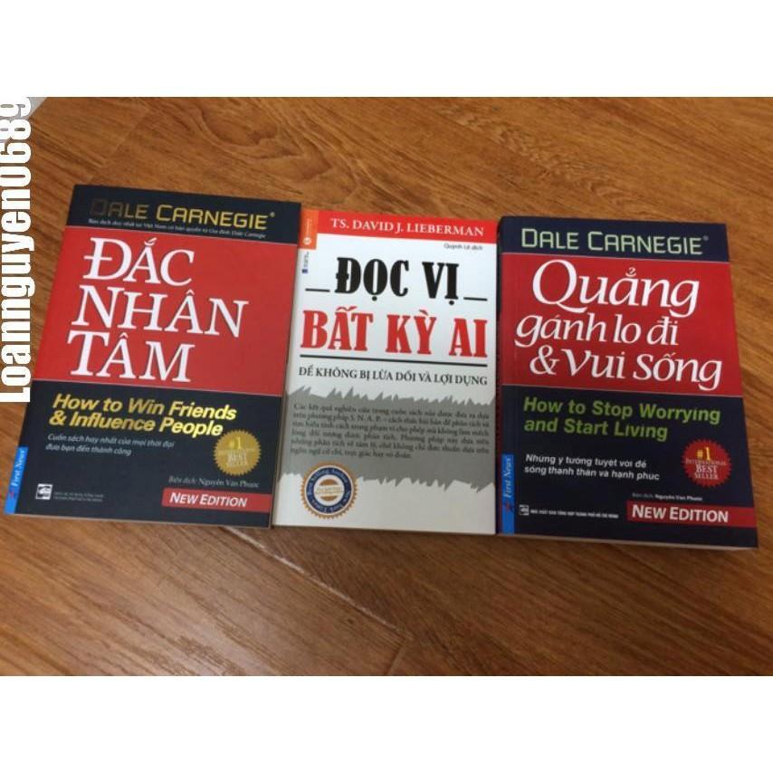Combo 3 Cuốn Sách Kỹ Năng Hay Nhất: Quẳng Gánh Lo..., Đọc Vị..., Đắc Nhân Tâm