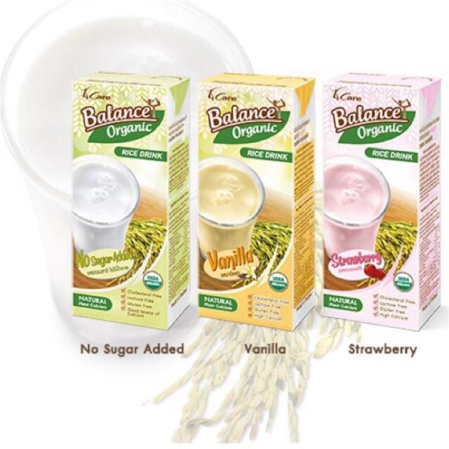 Sữa gạo hữu cơ Thái Lan Balance Organic vỉ 3 hộp