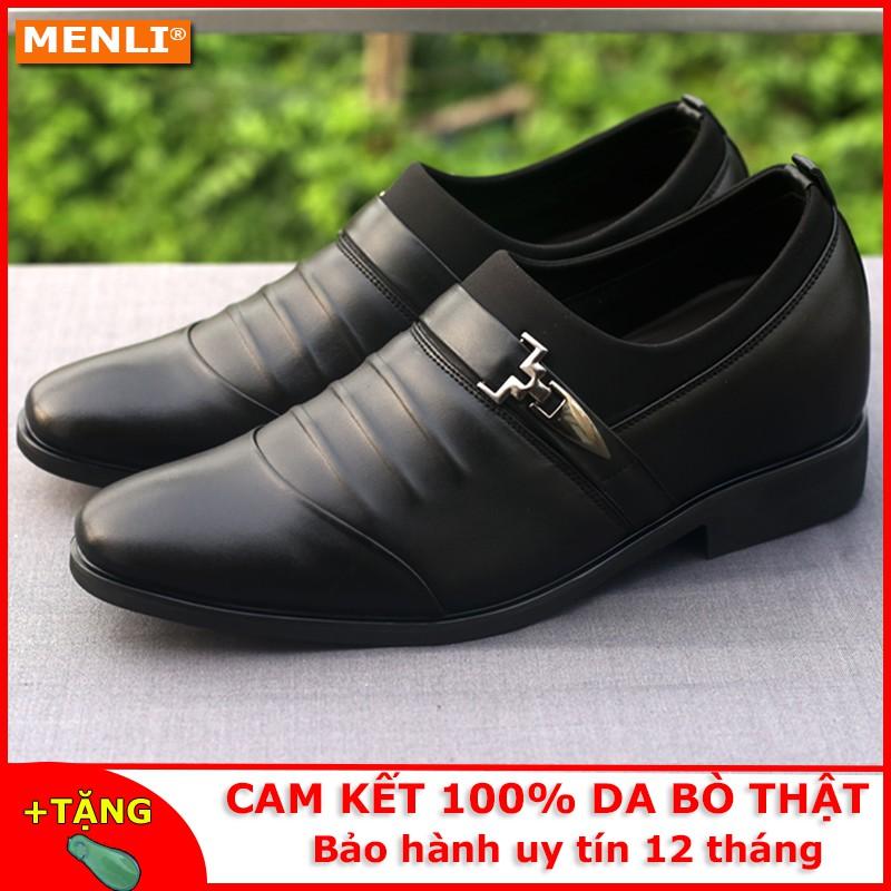 [XẢ HÀNG GIÁ SỐC] Giày tây da thật MENLI GLSP99 đế tăng chiều cao 6,5cm (Tặng đón giày siêu bền)