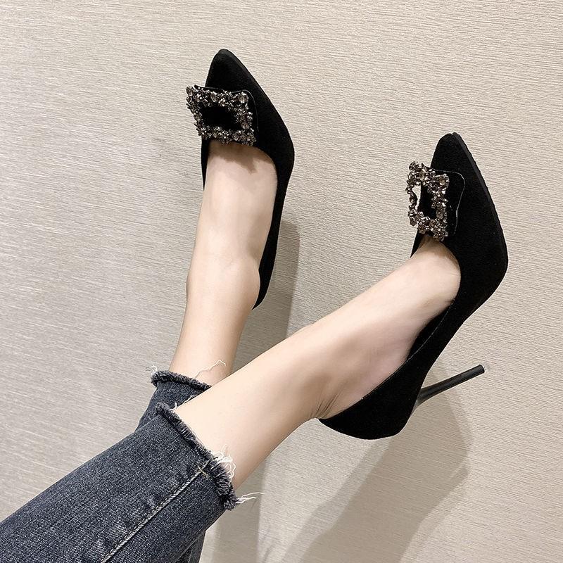 Giày Cao Gót Nữ Mũi Nhọn Thời Trang 2020