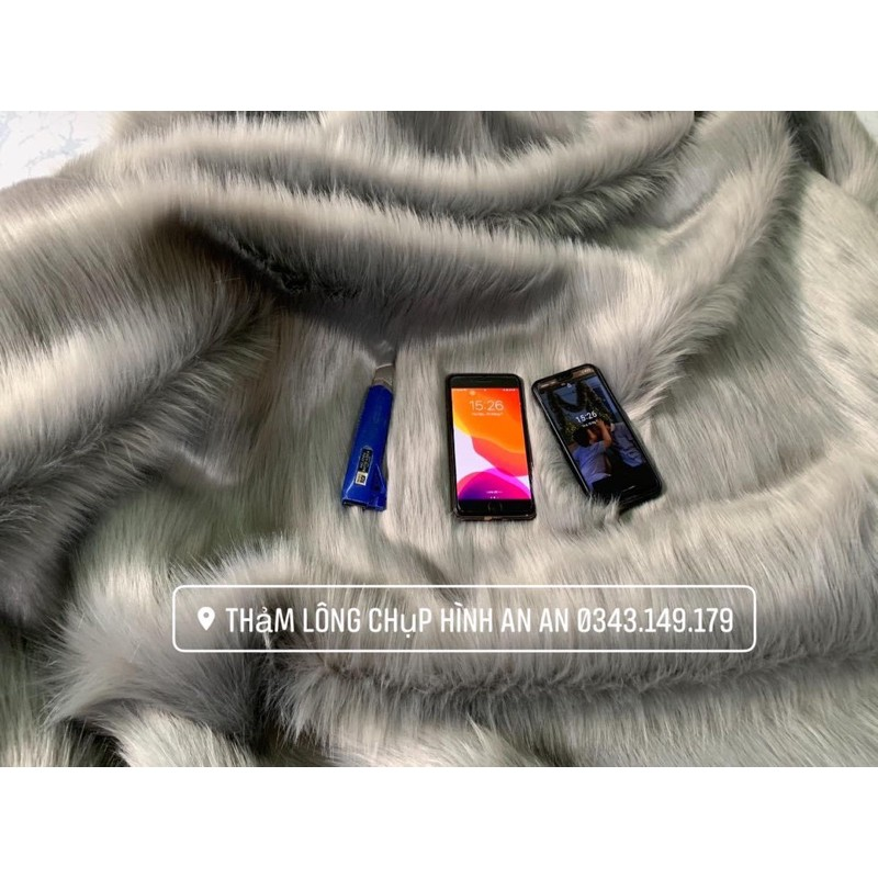 Thảm lông chụp hình - Thảm lông trải bàn lông dài