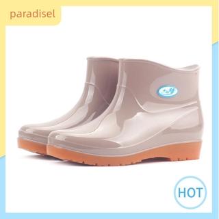 1 Giày Bốt Đi Mưa Cổ Thấp Chống Trượt Thời Trang Cho Nữ