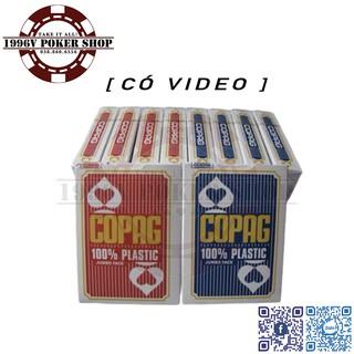 COPAG PLASTIC Card - Bộ tú lơ khơ, bài nhựa tây Poker số to Jumbo, chống nước, cong, bám bụi, 2 màu đỏ, xanh biển thumbnail