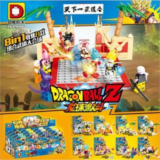 Đồ chơi lắp ráp lego 7 viên ngọc rồng songoku dragon ball DLP9088 trọn bộ 8 hộp.