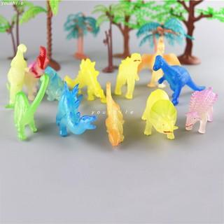 12 đồ chơi mô phỏng khủng long dạ quang (xô nhựa)