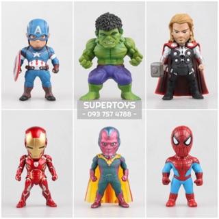 (Bán lẻ) Mô hình AVENGERS Không Có Đèn 8cm (Hulk, Thor, Captain, Vision, Spiderman, Ironman 45)