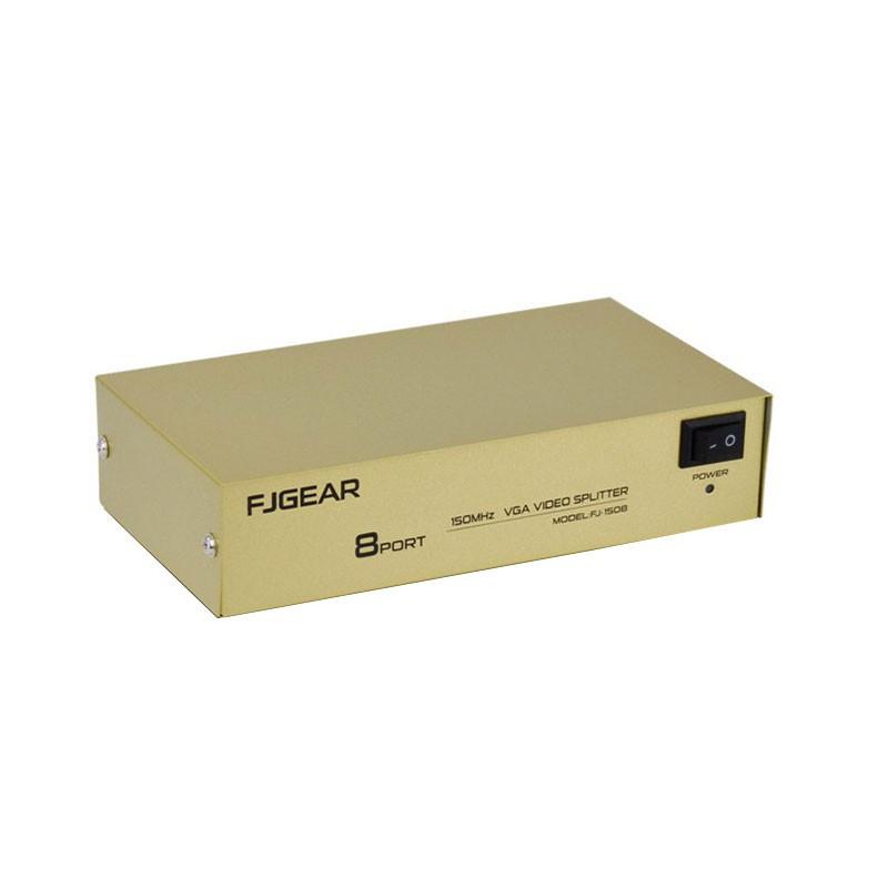 Bộ chia tín hiệu VGA 1 ra 8 FJGEAR FJ-2008 - VGA 1x8 FJ-2008 - Bộ chia VGA 1 ra 8 màn hình TV, máy c