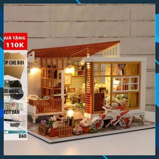 Mô hình nhà búp bê gỗ DIY Nhà búp bê lắp ghép Em là một giấc mơ A04 Toy World thumbnail