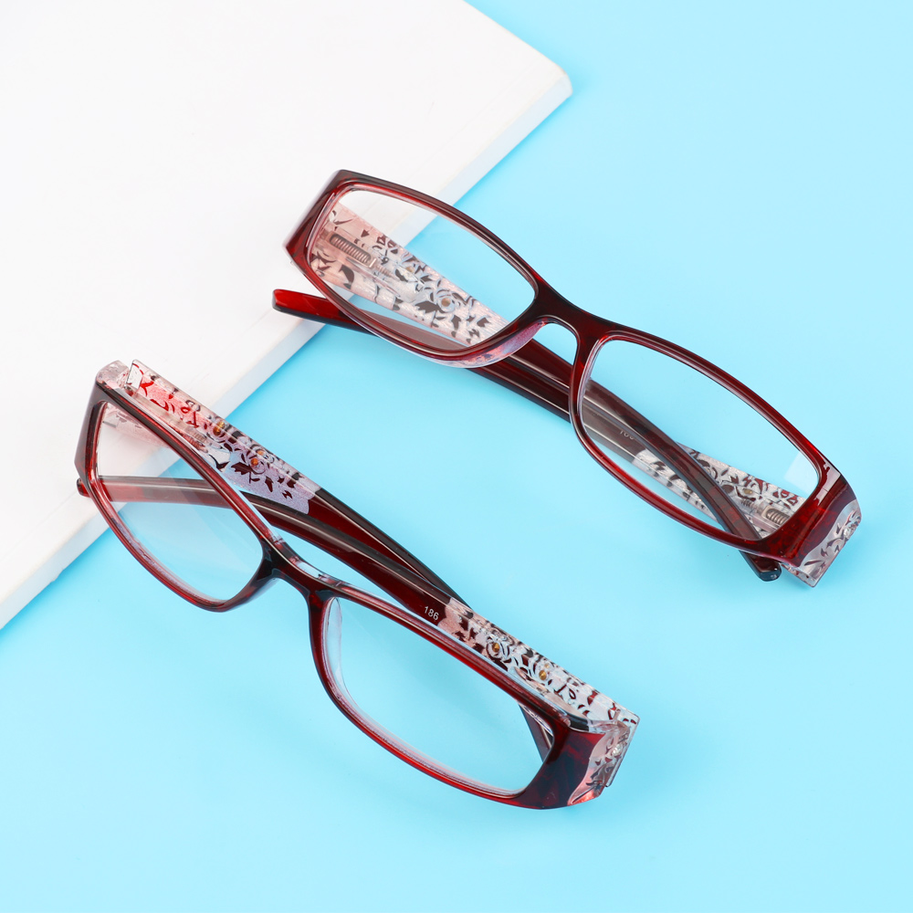 🌸EUTUS🌸 Ultralight Anti Blue Light Reading Glasses Radiation Protection Printing Eyeglasses Presbyopic Eyewear Vision Care Men Women Fashion Anti-blue Rays...