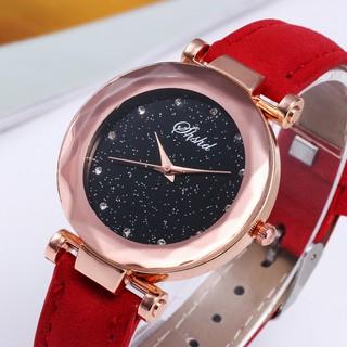 Đồng hồ nữ dây da SHSHD SH03 mặt kim tuyến lấp lánh thumbnail