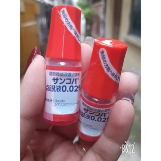 [Hàng bệnh viện Nhật] Thuốc Nhỏ mắt Sancoba Santen chữa cận thị và chống cận thị 0.02% NHẬT BẢN 5ml
