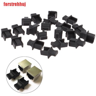{forstrehhuj}20pieces RJ45 Network Port Protective Rubber Cover Network Connector End Cap UUE