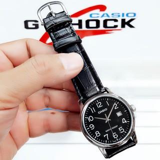 Đồng hồ nam dây da Casio Standard chính hãng Anh Khuê MTP-V002L-1BUDF