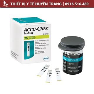 Que thử đường huyết ACCU-CHEK Instant Hộp 25 Que 50 Que Thiết Bị Y Tế Huyền thumbnail