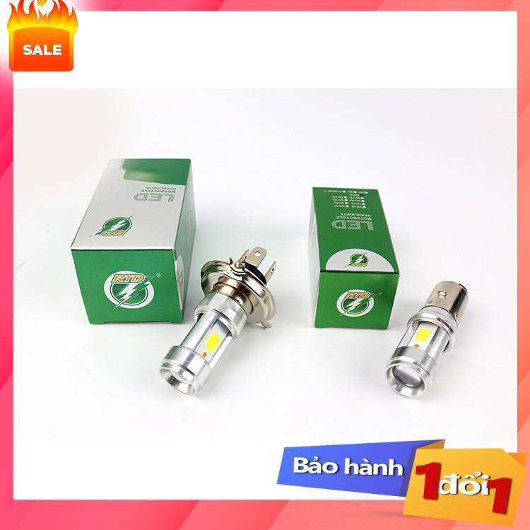 [Top sale] - Đèn pha xe máy led 3 chân H4/E01C siêu sáng