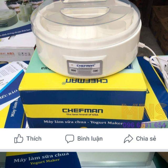 Sỉ máy làm sữa chua Chefman 8 cốc