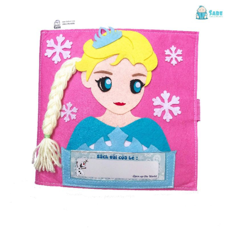[Freeship] Sách vải cho bé gái bìa công chúa elsa – Bé giúp mẹ việc nhà