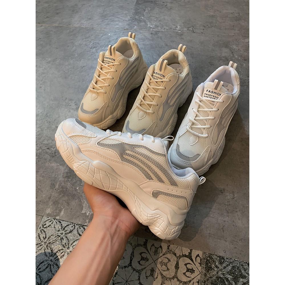 รองเท้าผ้าใบลูมินัสภูมิปัญญาของผู้หญิงหมอกควันรองเท้าสีขาวพื้นรองเท้าหนารองเท้าเ