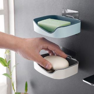 New Modern Soap Dish Stick-on Soap Saver With Drain