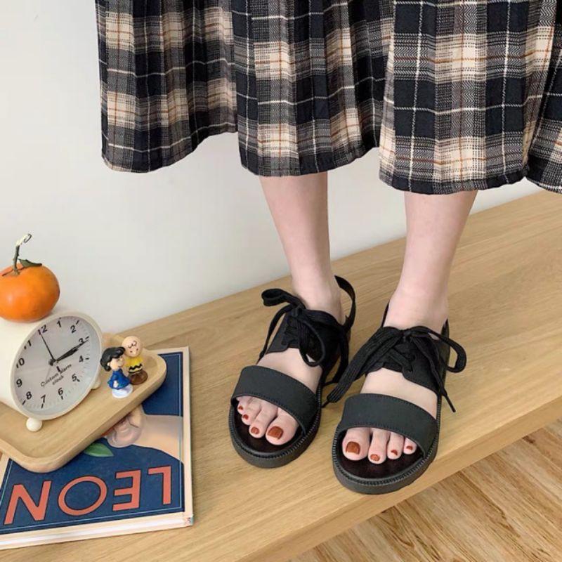 Dép sandal nữ buộc dây đi mưa thoải mái